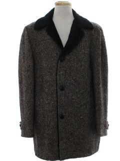 1960's Mens Mod Pendleton Car Coat Jacket