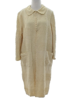 1960's Womens Knit Duster Jacket