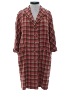 1960's Womens Wedge Style Duster Jacket