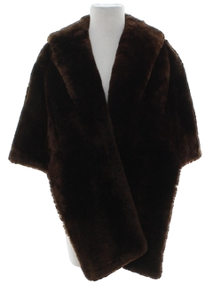1960's Womens Faux Fur Capelet Jacket