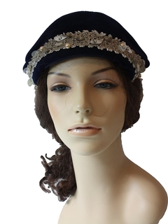1960's Womens Accessories - Flapper Style Hat