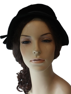 1960's Womens Accessories - Flapper Hat