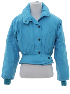 1980's Womens Totally 80s Designer Ski Jacket
