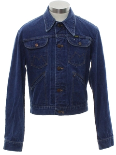 1970's Mens Mod Western Denim Jacket