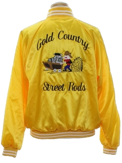 1980's Mens Hot Rod Club Baseball Style Jacket