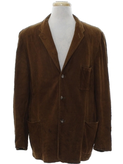 1950's Mens Leather Blazer Sportcoat Jacket