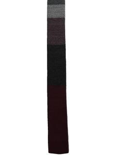 1960's Mens Mod Flat Bottom Skinny Necktie