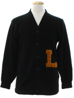 1960's Mens Letter Sweater