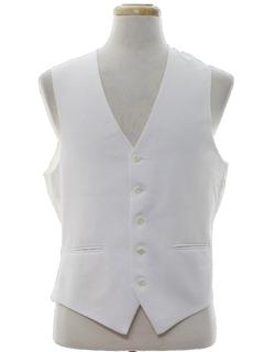 1980's Mens Totally 80s Suit Vest