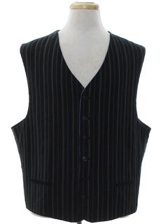 1980's Mens Pinstriped Suit Vest