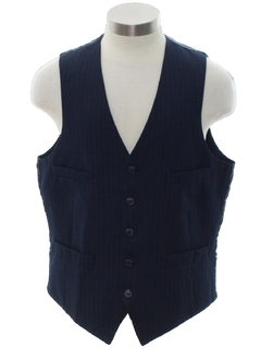 1980's Mens Pinstriped Suit Vest