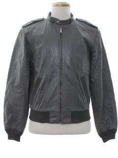 1980's Mens Cafe Racer Leather Jacket