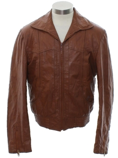 1970's Unisex Fight Club Style Leather Jacket