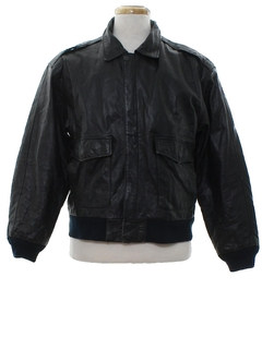 1970's Mens Grunge Leather Bomber Jacket