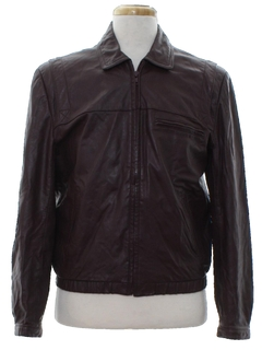 1980's Mens Mod Leather Jacket
