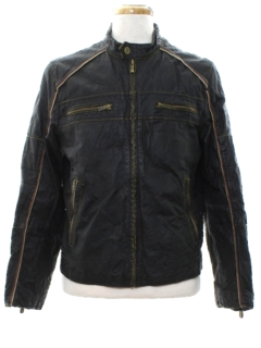 1980's Mens Leather Racer Style Jacket