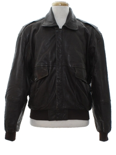1980's Mens Leather Bomber Jacket