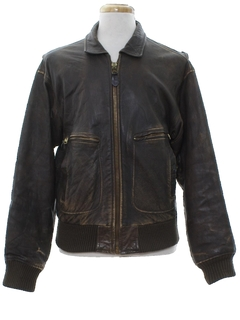 1980's Mens Leather Flight Jacket