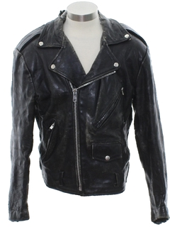 1980's Unisex Motorcycle Leather Jacket