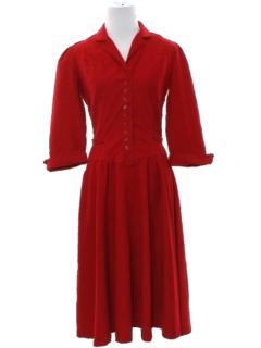 1980's Womens/Girls Prairie Style Dress