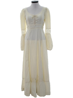 1970's Womens Hippie Prairie Dress