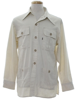 1970's Mens Hippie Leisure Style Shirt Jac Shirt