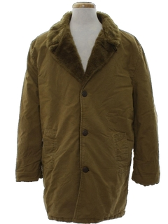 1970's Mens Car Coat Jacket