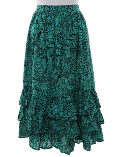 1980's Womens Totally 80s Hippie Style Skirt