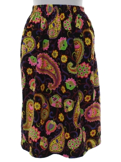 1960's Womens Mod Knit Hippie Skirt
