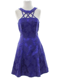 1980's Womens Totally 80s Prom Or Cocktail Mini Dress