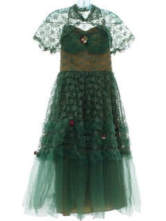 1950's Womens or Girls Prom Or Cocktail Dress