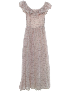1950's Womens or Girls Prom Or Cocktail Maxi Dress
