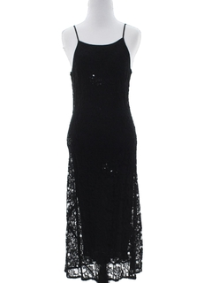 1990's Womens Prom Or Cocktail Maxi Dress