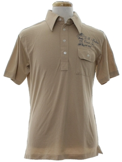1970's Mens Golf Style Uniform Shirt