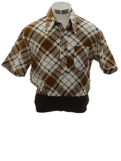 1970's Unisex Ladies or Boys Mod Shirt