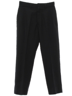 1960's Mens Flat Front Navy Academy Slacks Pants