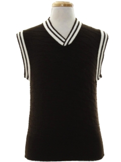 1970's Mens Mod Sweater Vest