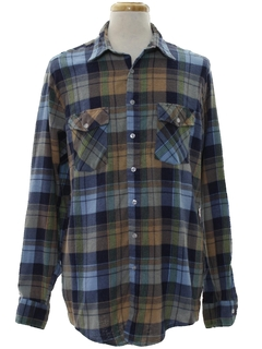 1960's Mens Western Flannel Shirt