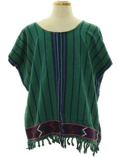 1970's Unisex Hippie Poncho Shirt