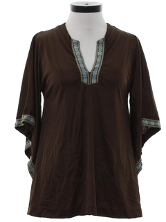 1970's Womens Hippie Tunic Shirt