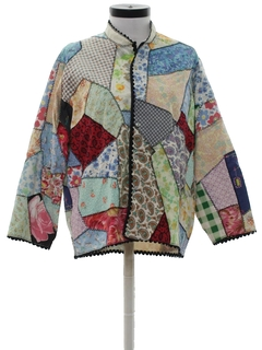 1970's Womens Patchwork Hippie Shirt