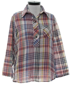 1970's Womens Plaid Levis Shirt