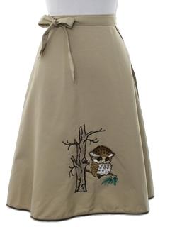 1970's Womens Mod Wrap Skirt