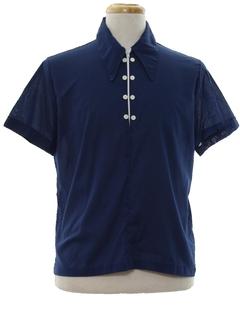 1970's Mens Mod Pullover Sport Shirt