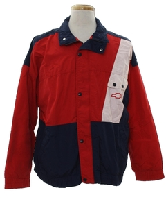 1980's Mens Wind Breaker Style Racing Jacket