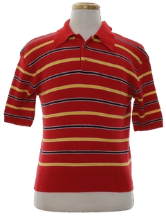 1970's Mens Knit Polo Shirt