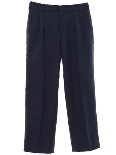 1970's Mens Mod Pleated Slacks Pants