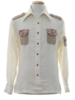 1970's Mens Safari Style Hippie Shirt
