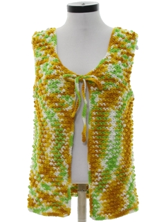 1970's Womens Hippie Sweater Vest
