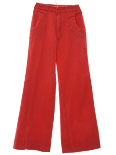 1970's Womens Bellbottom Jeans-cut Pants